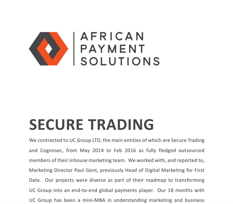 Secure Trading Case Study
